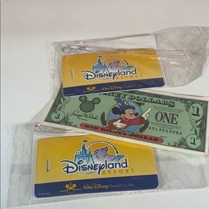 Sorcerer Mickey Mouse Dollar/Vintage Luggage Tags